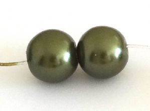 400 Glass pearl beads 4mm Antique Brass